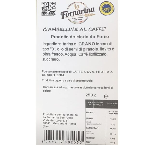 ciambelline al caffe ing